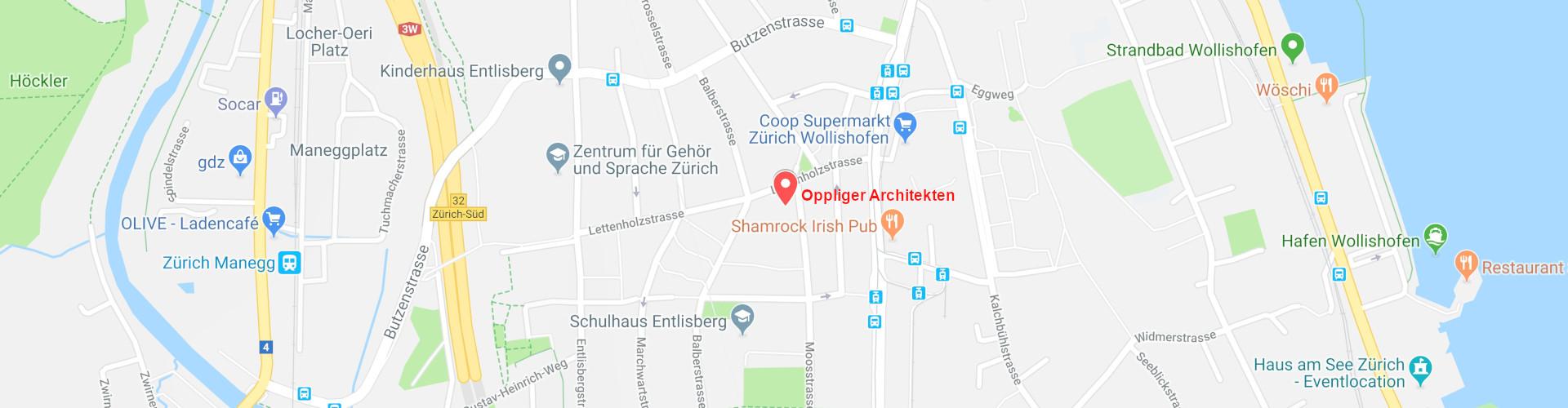 Oppliger Architekten Karte